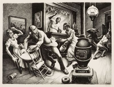 Thomas Hart Benton, 'Frankie and Johnnie', 1936