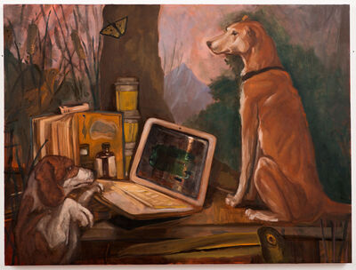 David B. Stewart, 'Hunting Dogs (Allegory of the Bored Office Worker)', 2019