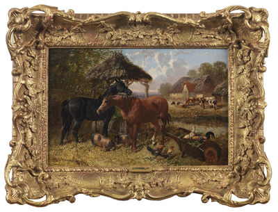 John Frederick Herring Jr., 'Farmyard Scenes (a pair) ', 19th Century