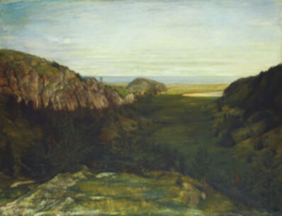 John La Farge, 'The Last Valley - Paradise Rocks', 1867-1868