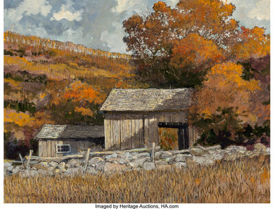 Eric Sloane, 'Barn in the Valley'