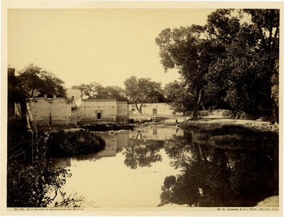 William Henry Jackson, 'No. 221, Bath Houses at Aguacalientes, Mexico', ca. 1880's