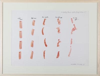 Osvaldo Romberg, '1 Typology through five parts of my body', 1975