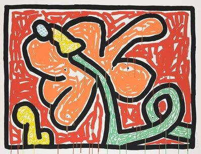 Keith Haring, 'Flowers, 1990 (Red)', 1990