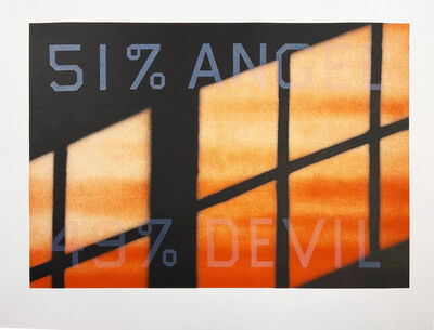 Ed Ruscha, '51 % Angel / 49% Devil', 1984