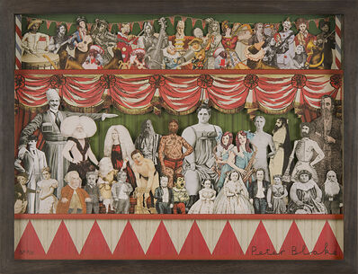 Peter Blake, '3D Circus Collage Triptych ', 2013