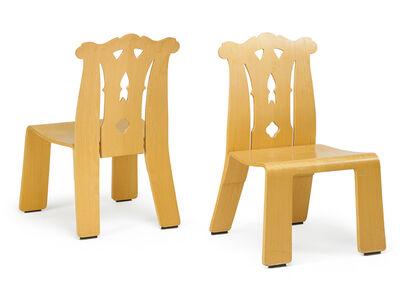 Robert Venturi, 'Pair of Chippendale chairs, New York', 1980s