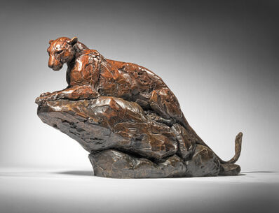 Mark Coreth, '8. Amur Leopard searching from Rocks', 2019