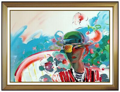 Peter Max, 'Peter Max French Zero Girlfriend Original Color Screenprint Large Signed Pop Art', 1990
