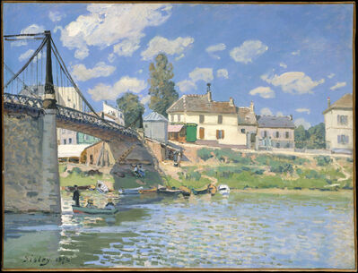 Alfred Sisley, 'The Bridge at Villeneuve-la-Garenne', 1872
