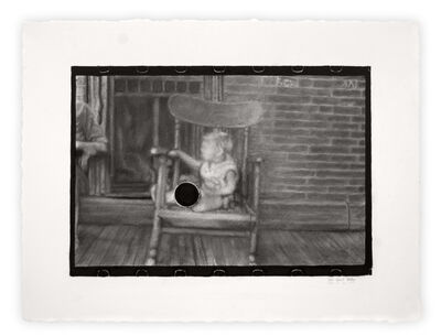 "Joel Daniel Phillips, 'Killed Negative #9 / After Ben Shahn [Archive Text: ""Untitled Photo, Possibly Related to: Family on Relief, Lancaster, Ohio""]', 2020"