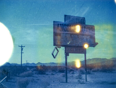 Kirsten Thys van den Audenaerde, 'Angels I - 21st Century, Polaroid, Landscape, Photography, Color, Blue, Sign', 2018