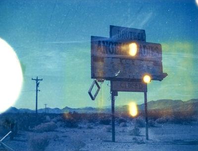 Kirsten Thys van den Audenaerde, 'Angels I - 21st Century, Polaroid, Landscape, Photography, Color, Blue, Sign', 2018
