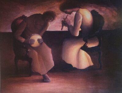 Sliman Mansour, 'Sad Tunes', 1972