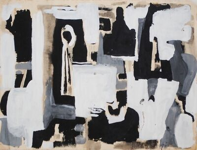Dusti Bongé, 'Untitled (Black and White Abstract)', ca. 1955