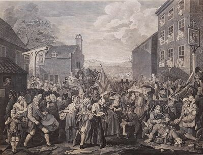 William Hogarth, 'The March to Finley', 1822