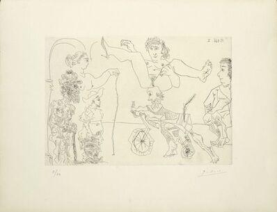 Pablo Picasso, 'Femme équilibriste enlevée par un vieillard barbu à bicyclette devant le cocu et des spectateurs ', 1968