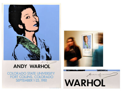 "Andy Warhol, '""KIMIKO- ANDY WARHOL Colorado State University"", SIGNED, Offset Lithographic Exhibition Poster', 1981"