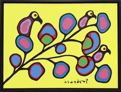 Norval Morrisseau, 'untitled (Bird On A Branch)', ca. 1985