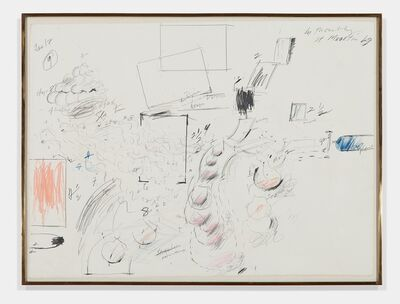 Cy Twombly, 'Untitled (Aerial view of Jasper Johns' house)', 1969