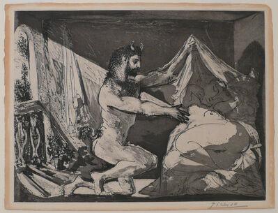 Pablo Picasso, 'Faune dévoilant une Dormeuse (Jupiter et Antiope, d'après Rembrandt) (S.V. 27)', 1936