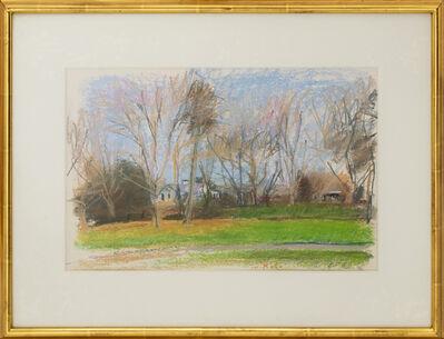 Wolf Kahn, 'Manolis Place on Halsey Neck Road (Southampton, NY)', 1989