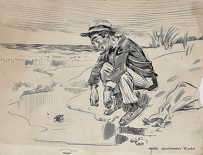 """James Montgomery Flagg, '""""I Do Fearfully Put in a Shallow Water""""', 20th Century"""