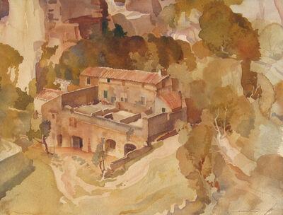 William Russell Flint, 'A Farm at Les Baux, Provence'