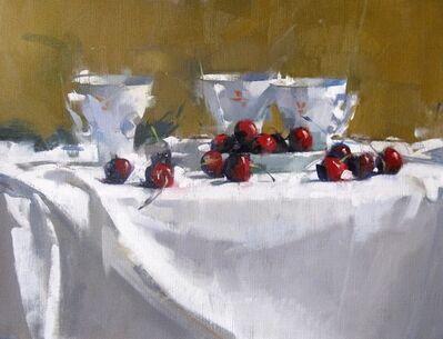 Maggie Siner, 'Cherries & Three Cups', 2018
