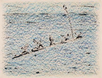 Milton Avery, 'Gulls at Sea', 1956