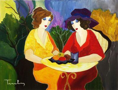 Itzchak Tarkay, 'CHATTING LADIES', UNKNOWN