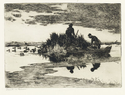 Frank Weston Benson, 'Duck Blind.', 1925