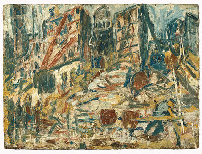 Leon Kossoff, 'Demolition of YMCA Building No. 4, Spring', 1971