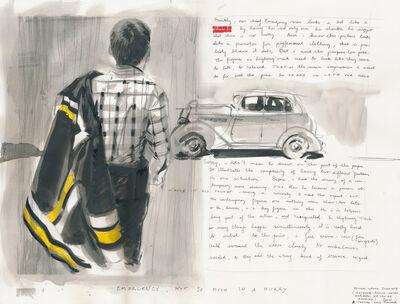 David Claerbout, 'Highway Wreck drawing (Study n° 4)', 2013