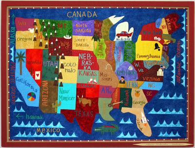 Chris Roberts-Antieau, 'Map Of The USA', 2019