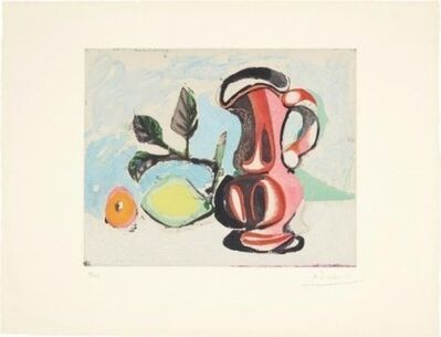 Pablo Picasso, 'Nature Morte Au Citron Et Pichet Rouge (Still Life with Lemon and Red Pitcher)', 1964