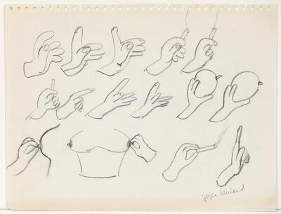 Joyce Wieland, 'Hands with Drawing', ca. 1960
