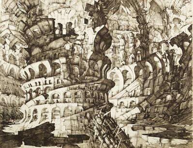 Erik Desmazières, 'La Tour de Babel', 1976