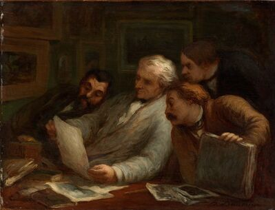 Honoré Daumier, 'The Print Collectors', 1860-1863