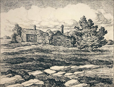 Birger Sandzén, 'Barker Homestead', 1945