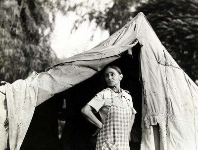 Dorothea Lange, 'Greek migratory woman living in a cotton camp near Exeter, California.', ca. 1935