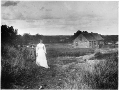 'Paula Modersohn-Becker and her stepdaughter Elsbeth in Worpswede', c. 1903