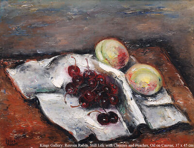 Reuven Rubin, 'Still Life with Cherries and Peaches', around 1930