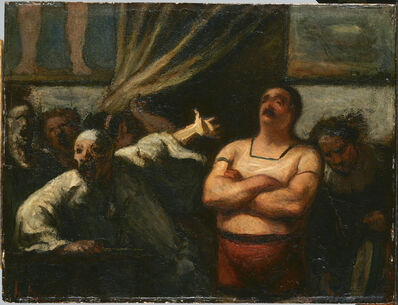 Honoré Daumier, 'The Strong Man', ca. 1865