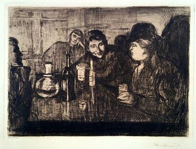 Edvard Munch, 'Kristiania Boheme I (or Kristiania Bohemians I; Drinking Session/Drinking Bohemians)', 1895