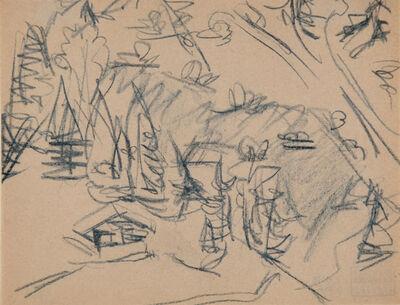 Ernst Ludwig Kirchner, 'Hütte im Gebirge (Mountain Cabin)', 1918