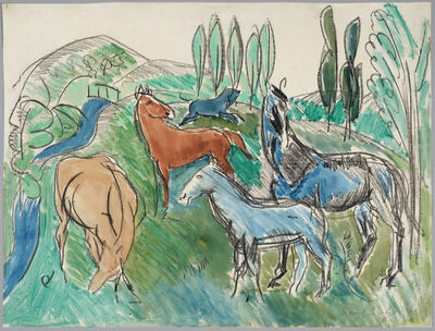 Raoul Dufy, 'Dans les prairies de l'Eure', ca. 1919