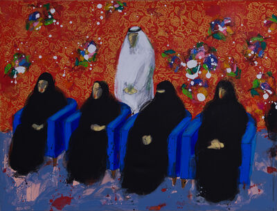 Salman Al Malik, 'A man and four women / رجل و اربع نساء ', 2017