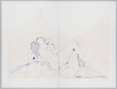 Tracey Emin, 'Into the Pink and Blue', 2015