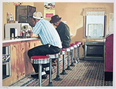 Ralph Goings, 'Twin Springs Diner', 1981